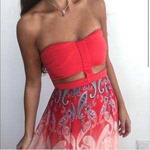 Gorgeous red maxi dress with cutout detail